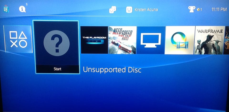 manually put in disc ps4